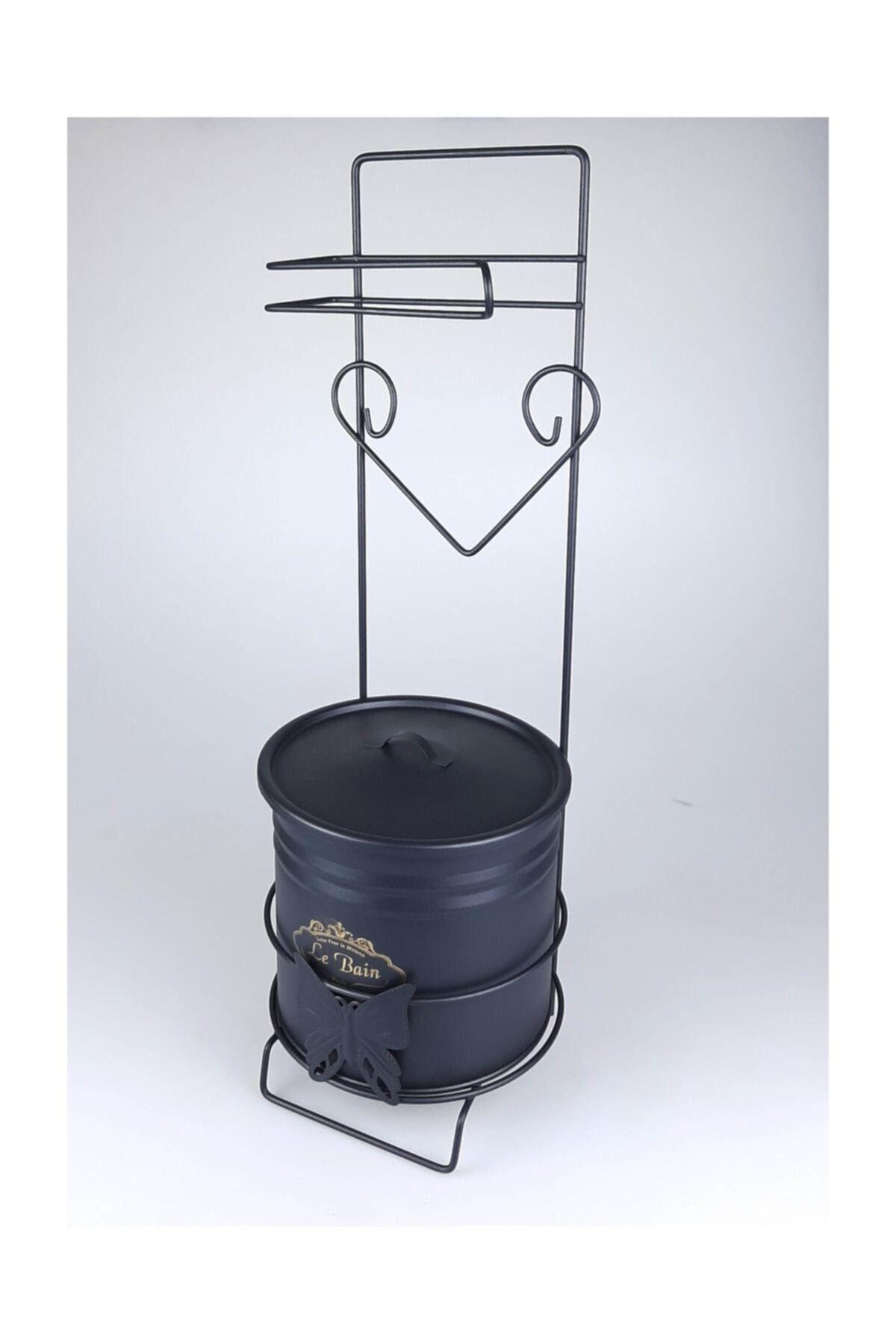 Wc Kağıtlık Çöp Kovalı Ferforje , Tuvalet Kağıtlığı , Banyo Çöp Kovası