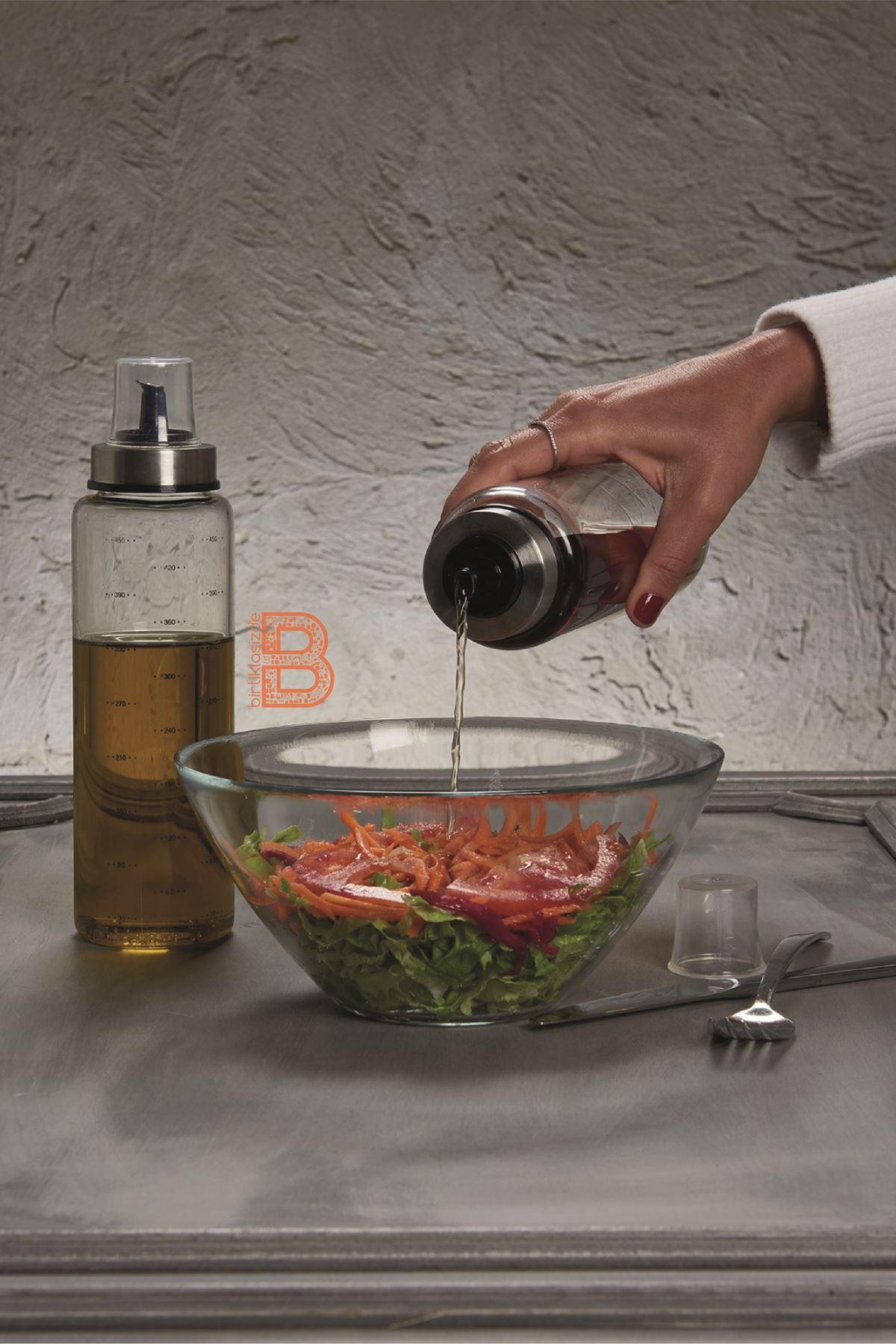 Kitchen Trend 2 Li Borosilikat Damlatmaz 500 ML Cam Yağlık Sirkelik