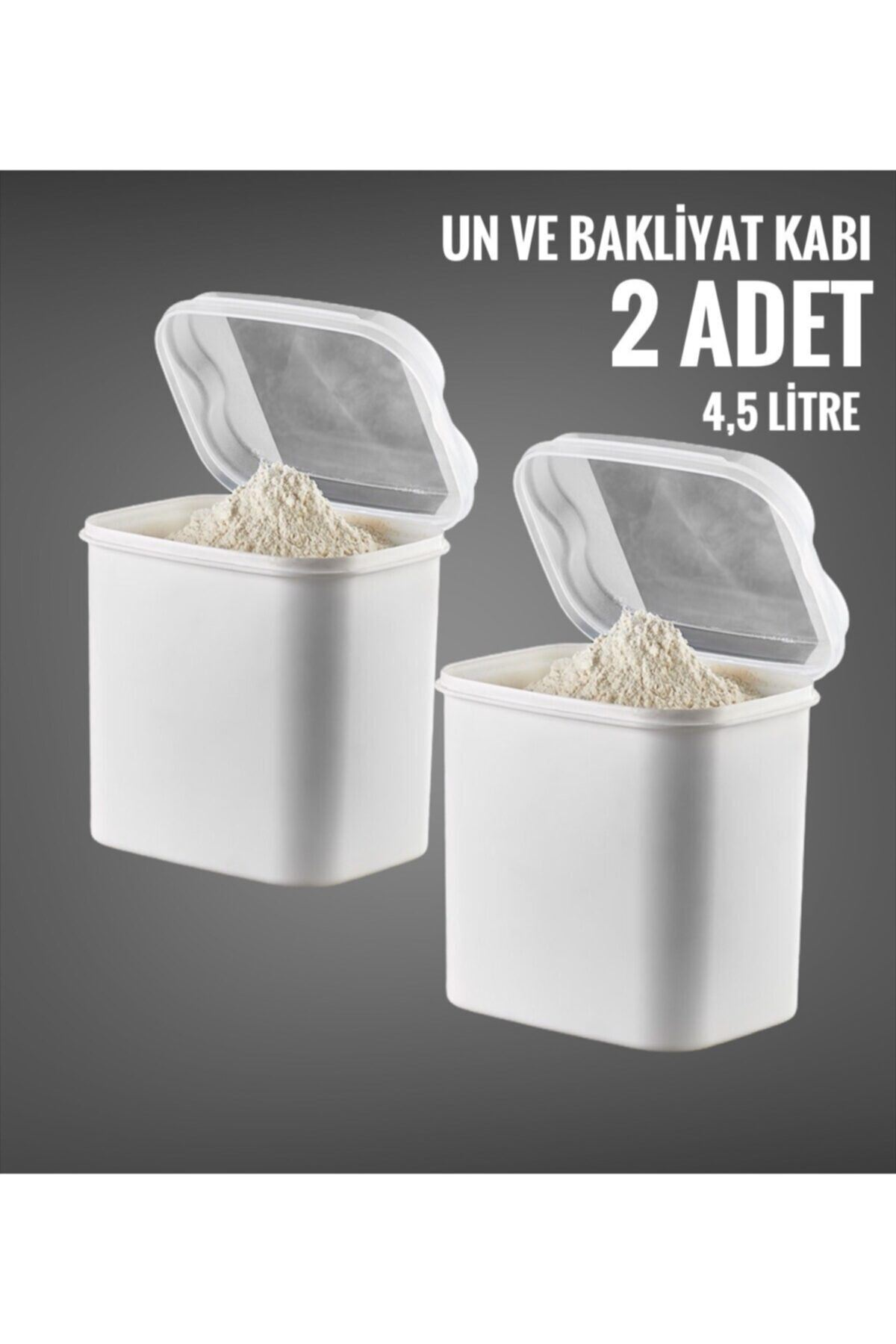 Vip Ahmet 2 Li Un ve Bakliyat Kabı 4,5 Litre Beyaz