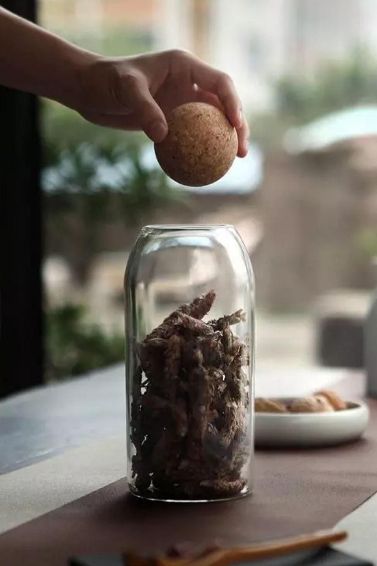 Kitchen Trend Mantar Kapaklı Cam Kavanoz ve Baharat Seti