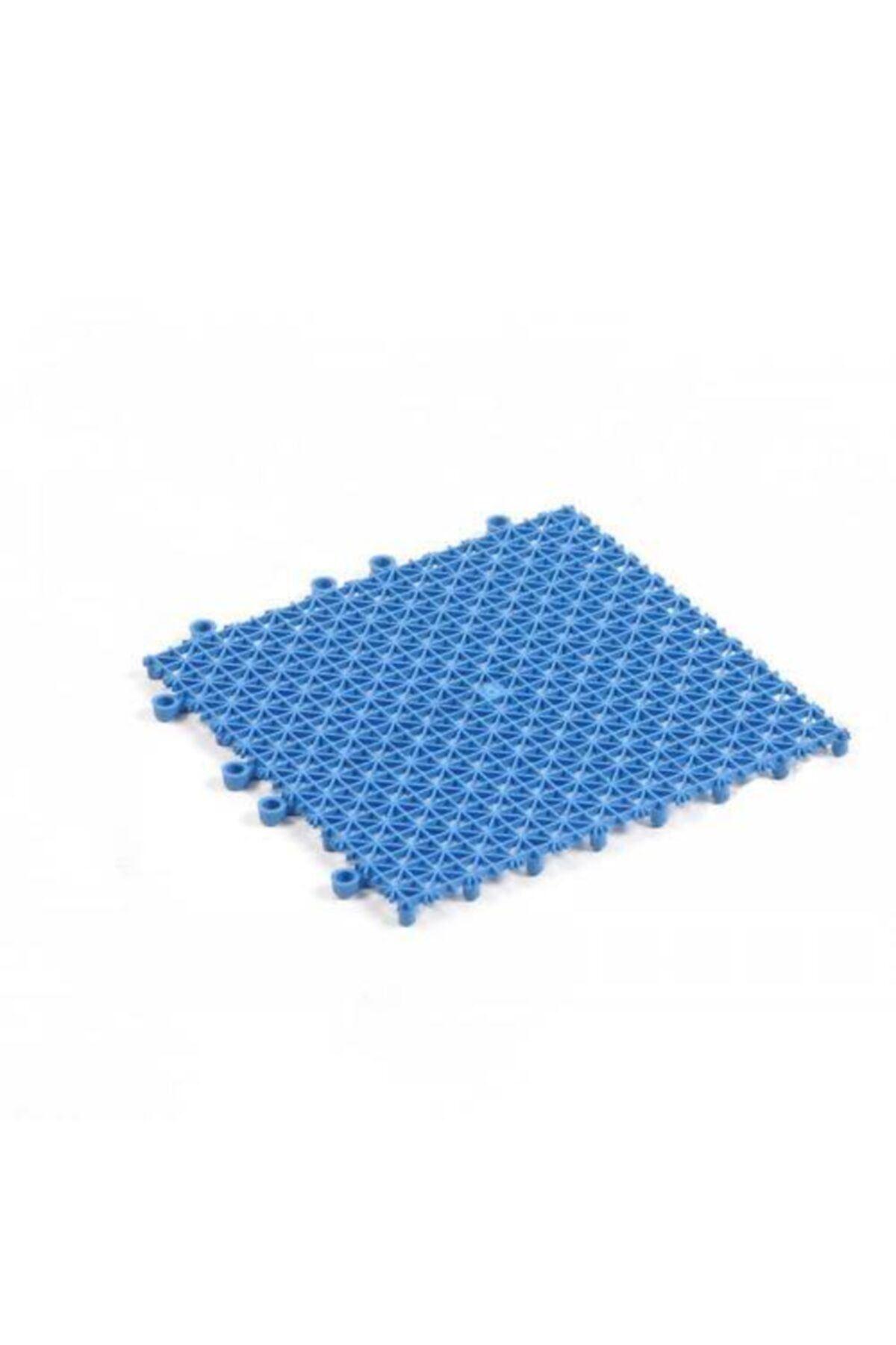 Mavi Plastik Kırılmaz Yer Karosu Zemin Kaplaması 1m2 ( 80 Adet ) 25 X 25 cm