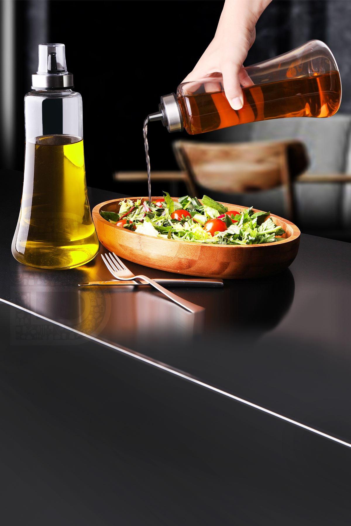 Kitchen Trend 2 Li Nefes Model 1 Lt Damlatmaz Borosilikat Yağlık Yağdanlık